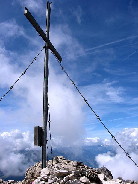 Foto: Andreas Koller / Klettersteig Tour / Klettersteig Ari Schübel (2772 m) / Gipfelkreuz auf der Großen Sandspitze / 14.09.2008 17:45:55