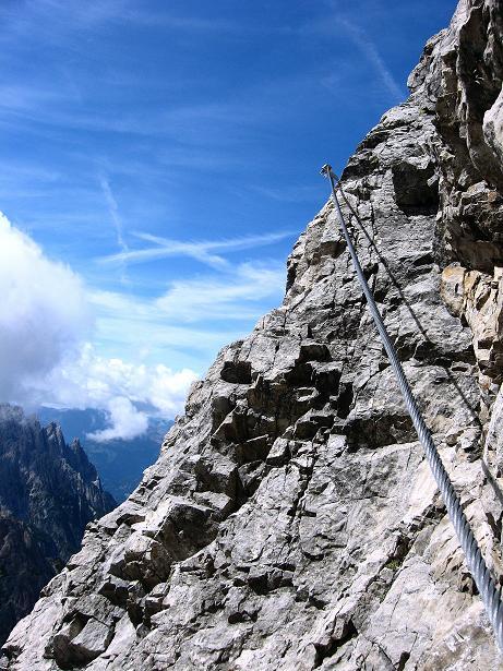 Foto: Andreas Koller / Klettersteig Tour / Klettersteig Ari Schübel (2772 m) / Ausstieg aus der Schlüsselstelle / 14.09.2008 17:45:08