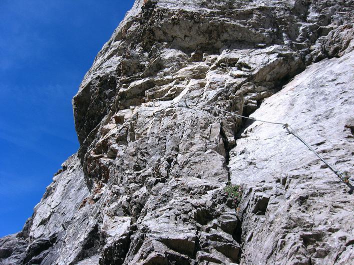 Foto: Andreas Koller / Klettersteig Tour / Klettersteig Ari Schübel (2772 m) / Die Schlüsselstelle / 14.09.2008 17:44:46