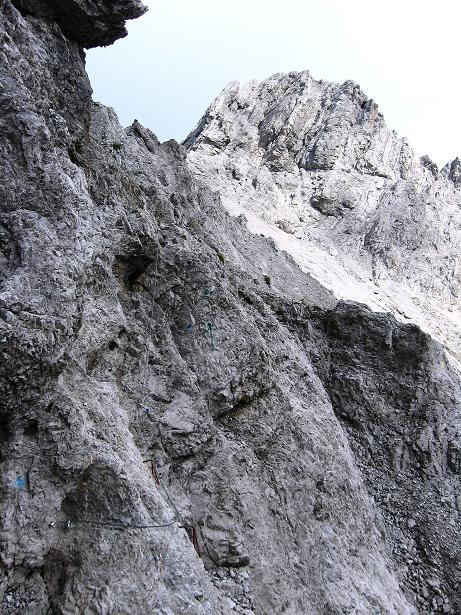 Foto: Andreas Koller / Klettersteig Tour / Klettersteig Ari Schübel (2772 m) / Zurück zum Schartenschartl mit Gamsköpfen (2701 m) / 14.09.2008 17:43:36