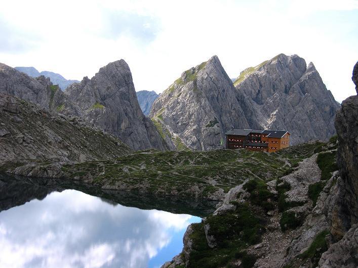 Foto: Andreas Koller / Klettersteig Tour / Klettersteig Ari Schübel (2772 m) / Laserzsee und Karlsbader Hütte / 14.09.2008 17:42:52