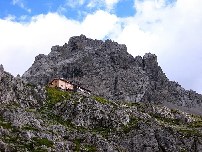 Foto: Andreas Koller / Klettersteig Tour / Klettersteig Ari Schübel (2772 m) / Karlsbader Hütte gegen Seekofel (2744 m) / 14.09.2008 17:40:38