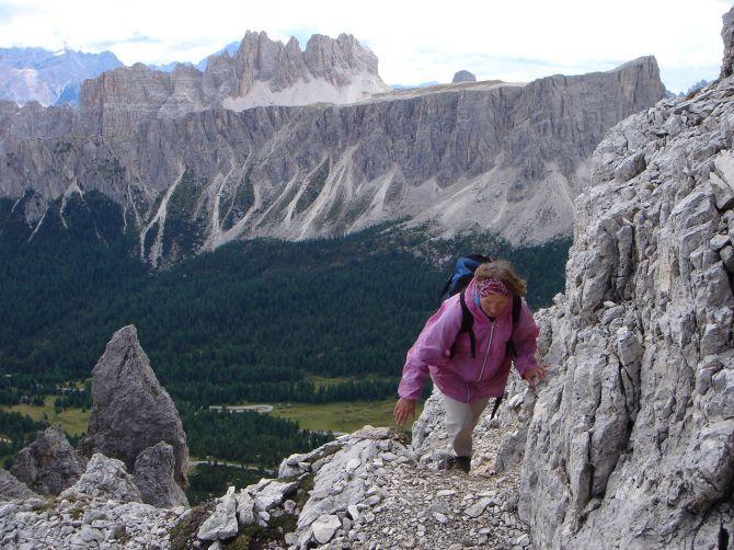 Foto: Manfred Karl / Klettersteig Tour / Via ferrata Ra Gusela / Aufstieg zur Gusela / 14.09.2008 21:06:25