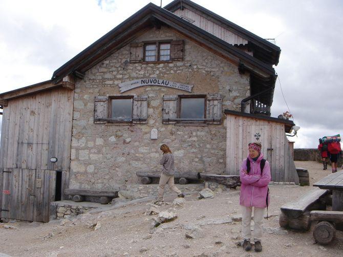 Foto: Manfred Karl / Klettersteig Tour / Via ferrata Ra Gusela / Die Gipfelhütte / 14.09.2008 21:04:43