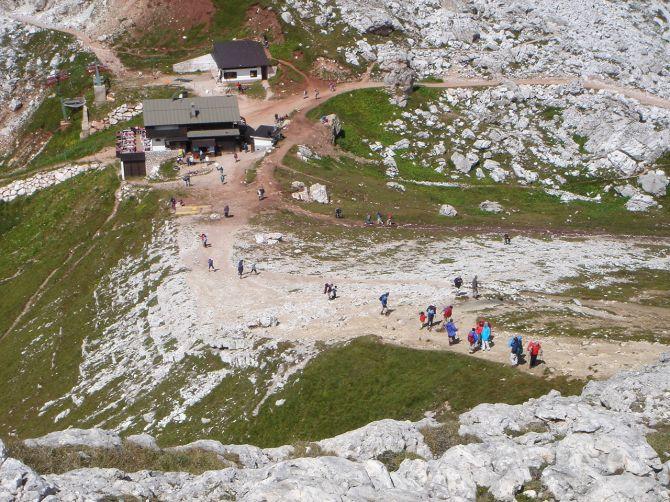 Foto: Manfred Karl / Klettersteig Tour / Via ferrata Ra Gusela / Rifugio Averau / 14.09.2008 21:03:00
