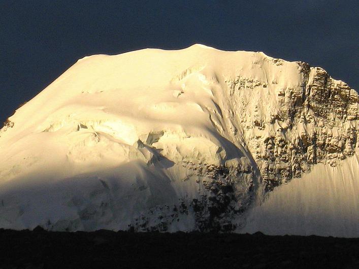 Foto: Andreas Koller / Wander Tour / Über Nimaling auf den Konmaru Ri (5446 m) / Gipfelkalotte Kang Yatse (6404 m) / 15.09.2008 22:54:26