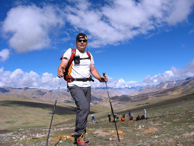Foto: Andreas Koller / Wander Tour / Über Nimaling auf den Konmaru Ri (5446 m) / Aufstieg zum Konmaru La / 15.09.2008 22:52:54