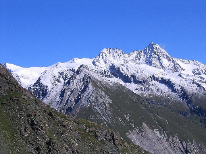 Foto: Andreas Koller / Wander Tour / Auf dem Saazerweg auf die Vordere Kendlspitze (3088m) / Der Großglockner (3798 m) / 15.09.2008 23:37:22