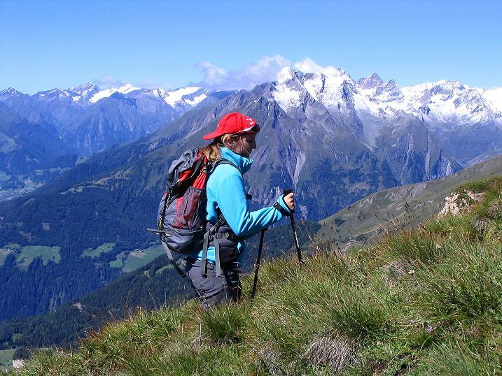 Foto: Andreas Koller / Wander Tour / Auf dem Saazerweg auf die Vordere Kendlspitze (3088m) / Am Sudetendeutschen Höhenweg gegen Virgental und Venedigergruppe / 15.09.2008 23:36:35