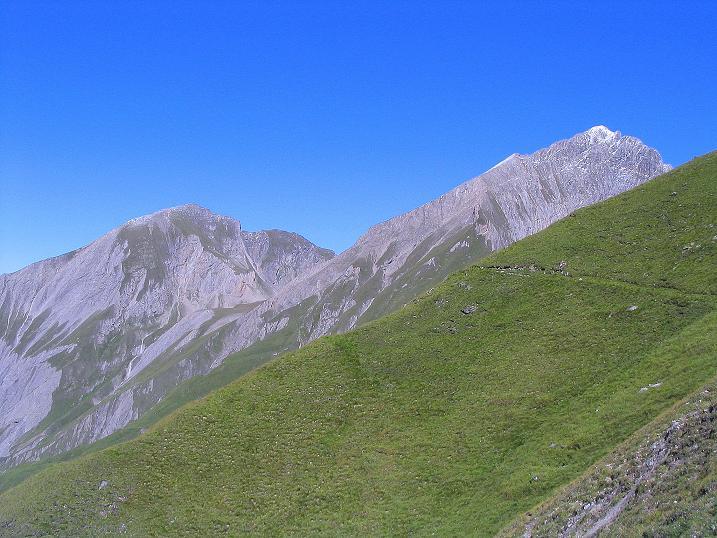 Foto: Andreas Koller / Wander Tour / Auf dem Saazerweg auf die Vordere Kendlspitze (3088m) / Bretterwandspitze (2887 m) und Vordere Kendlspitze / 15.09.2008 23:36:12
