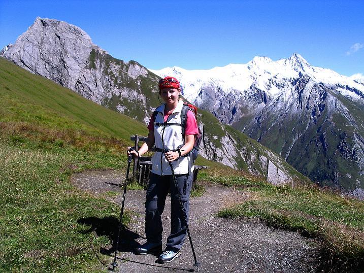 Foto: Andreas Koller / Wander Tour / Auf dem Saazerweg auf die Vordere Kendlspitze (3088m) / Über Kals dem Großglockner gegenüber (3798 m) / 15.09.2008 23:35:13