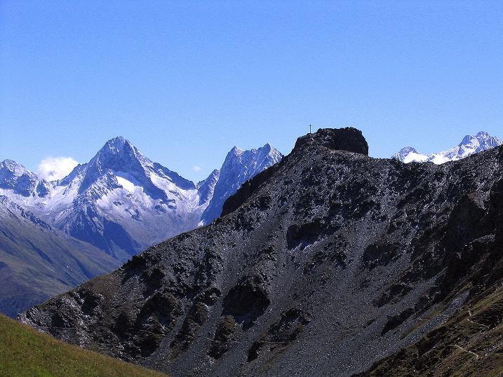 Foto: Andreas Koller / Wander Tour / Auf dem Saazerweg auf die Vordere Kendlspitze (3088m) / Blauspitz (2594 m) und Schobergruppe / 15.09.2008 23:34:40