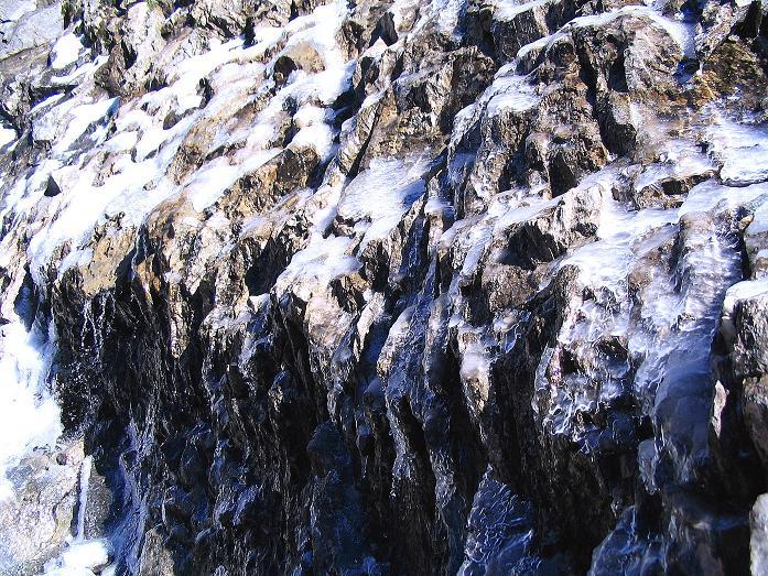 Foto: Andreas Koller / Wander Tour / Auf dem Saazerweg auf die Vordere Kendlspitze (3088m) / Eisgebilde / 15.09.2008 23:32:32