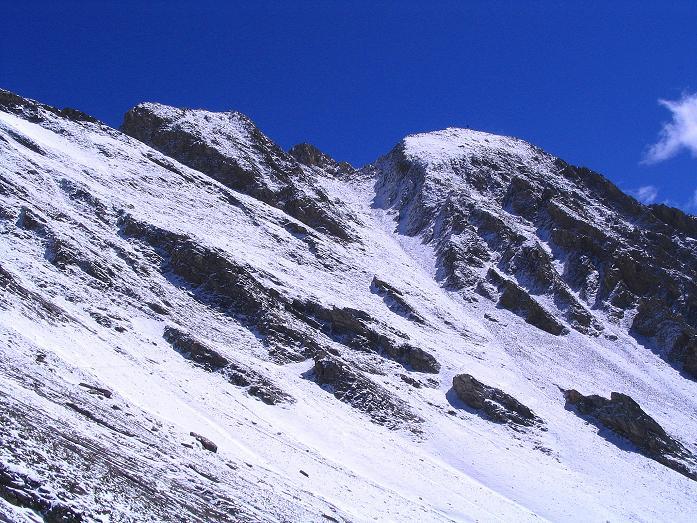 Foto: Andreas Koller / Wander Tour / Auf dem Saazerweg auf die Vordere Kendlspitze (3088m) / Blick auf das Gipfelziel / 15.09.2008 23:31:35