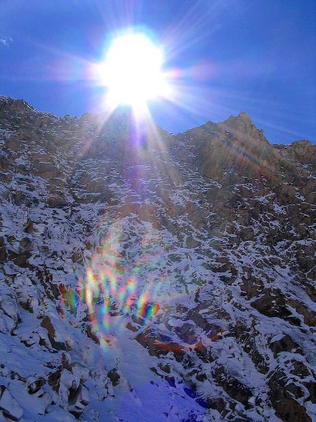 Foto: Andreas Koller / Wander Tour / Auf dem Saazerweg auf die Vordere Kendlspitze (3088m) / Blick aus der Rinne auf den Gipfel / 15.09.2008 23:29:18