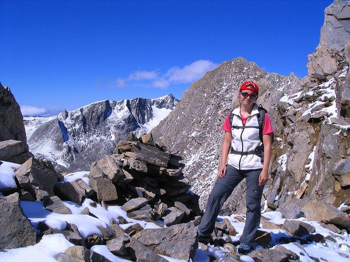 Foto: Andreas Koller / Wander Tour / Auf dem Saazerweg auf die Vordere Kendlspitze (3088m) / Austieg in die kleine Scharte mit Blick auf den Großen Muntanitz / 15.09.2008 23:28:04