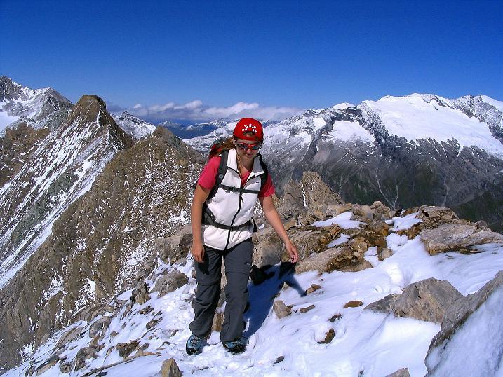 Foto: Andreas Koller / Wander Tour / Auf dem Saazerweg auf die Vordere Kendlspitze (3088m) / Am N-Grat / 15.09.2008 23:27:08