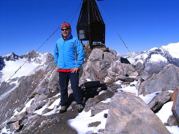 Foto: Andreas Koller / Wander Tour / Auf dem Saazerweg auf die Vordere Kendlspitze (3088m) / Auf der Kendlspitze / 15.09.2008 23:25:22