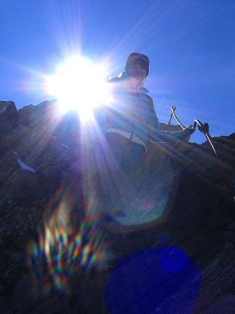 Foto: Andreas Koller / Wander Tour / Auf dem Saazerweg auf die Vordere Kendlspitze (3088m) / Abstieg am N-Grat / 15.09.2008 23:24:38