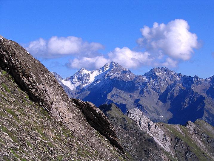 Foto: Andreas Koller / Wander Tour / Auf dem Saazerweg auf die Vordere Kendlspitze (3088m) / Blick auf den Hochschober (3242 m) / 15.09.2008 23:23:56