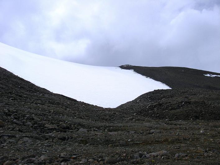 Foto: Andreas Koller / Wander Tour / Von Nimaling auf den Theny Ri (5765m) / Die untere Gletscherzunge / 17.09.2008 23:45:04