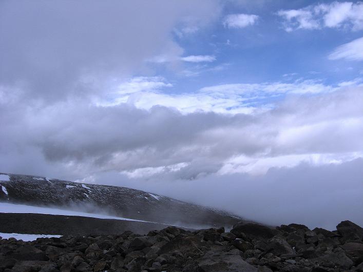 Foto: Andreas Koller / Wander Tour / Von Nimaling auf den Theny Ri (5765m) / Blick zum Gletscher / 17.09.2008 23:41:56