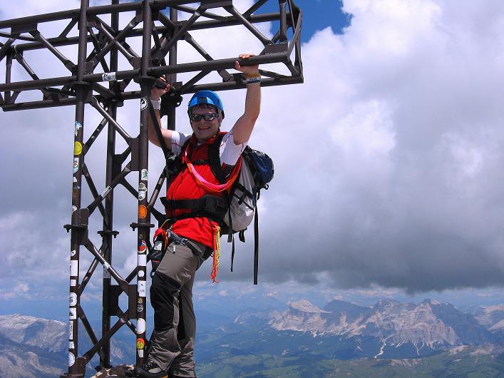 Foto: Andreas Koller / Klettersteig Tour / Marmolada (3343m) - Westgrat Klettersteig (Hans Seyffert Weg) / Geht's noch höher am Gipfel? / 18.09.2008 00:29:15