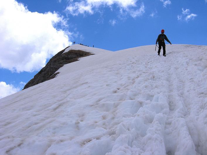 Foto: Andreas Koller / Klettersteig Tour / Marmolada (3343m) - Westgrat Klettersteig (Hans Seyffert Weg) / Abstieg über den Eselsrücken / 18.09.2008 00:26:08