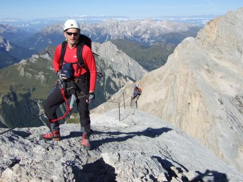 Foto: hofchri / Klettersteig Tour / Marmolada (3343m) - Westgrat Klettersteig (Hans Seyffert Weg) / direkt am Westgrat / 14.02.2009 16:13:55