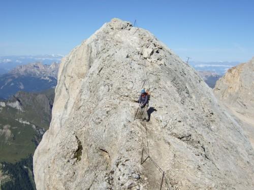 Foto: hofchri / Klettersteig Tour / Marmolada (3343m) - Westgrat Klettersteig (Hans Seyffert Weg) / leichtes auf und ab / 14.02.2009 16:14:10