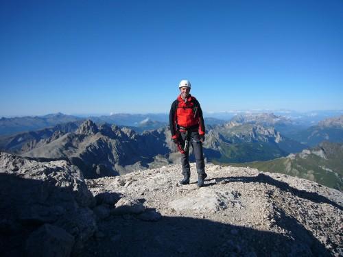 Foto: hofchri / Klettersteig Tour / Marmolada (3343m) - Westgrat Klettersteig (Hans Seyffert Weg) / Ausstieg aus dem Klettersteig / 14.02.2009 16:14:56