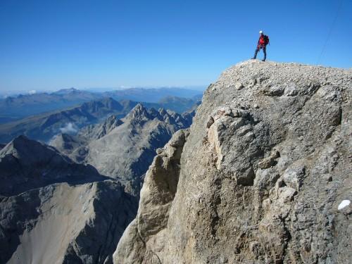 Foto: hofchri / Klettersteig Tour / Marmolada (3343m) - Westgrat Klettersteig (Hans Seyffert Weg) / unmittelbar vor dem Gipfel / 14.02.2009 16:16:13