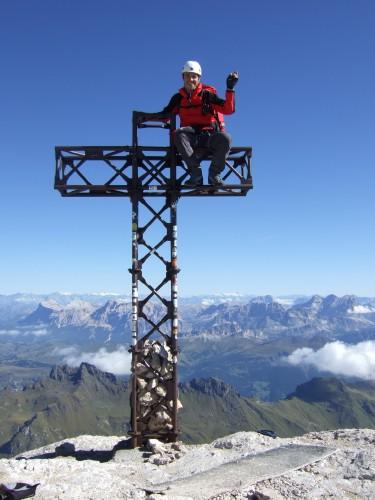 Foto: hofchri / Klettersteig Tour / Marmolada (3343m) - Westgrat Klettersteig (Hans Seyffert Weg) / auf 3.343 m + 2,5 m Seehöhe / 14.02.2009 16:17:34