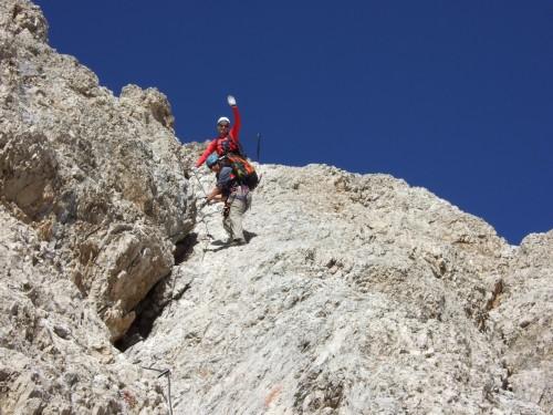 Foto: hofchri / Klettersteig Tour / Marmolada (3343m) - Westgrat Klettersteig (Hans Seyffert Weg) / Entscheidung Steigeisen anlassen oder nicht? / 14.02.2009 16:20:55