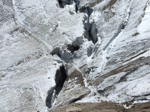 Foto: hofchri / Klettersteig Tour / Marmolada (3343m) - Westgrat Klettersteig (Hans Seyffert Weg) / Spaltenimpressionen im Übergangsbereich! / 14.02.2009 16:22:37