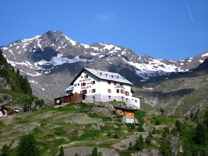 Foto: Andreas Koller / Wander Tour / Aus dem Martelltal auf die Köllkuppe (3330m)  / Die Zufallhütte / 18.09.2008 21:55:31