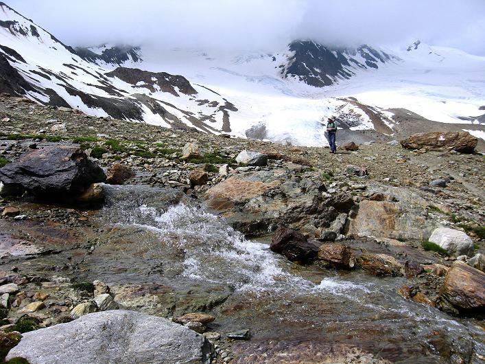 Foto: Andreas Koller / Wander Tour / Aus dem Martelltal auf die Köllkuppe (3330m)  / Vor dem Zufallferner / 18.09.2008 21:37:50