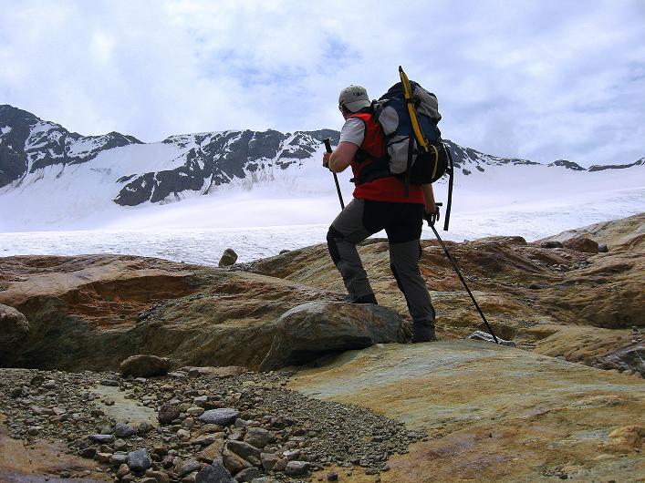 Foto: Andreas Koller / Wander Tour / Aus dem Martelltal auf die Köllkuppe (3330m)  / Anstieg zum Hohenferner / 18.09.2008 21:37:24