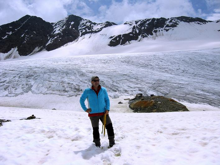 Foto: Andreas Koller / Wander Tour / Aus dem Martelltal auf die Köllkuppe (3330m)  / Hohenferner und Veneziaspitzen (3386 m) / 18.09.2008 21:36:19