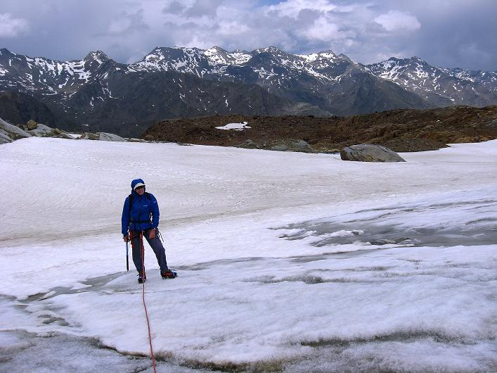 Foto: Andreas Koller / Wander Tour / Aus dem Martelltal auf die Köllkuppe (3330m)  / Der recht gutmütige Hohenferner / 18.09.2008 21:35:01