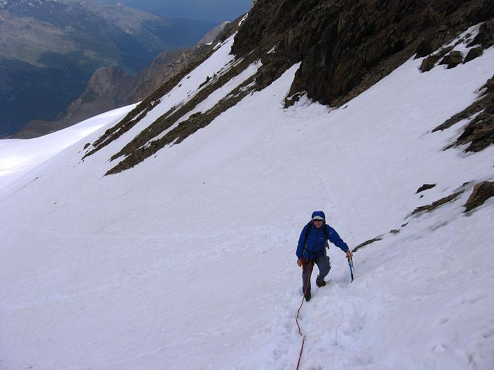 Foto: Andreas Koller / Wander Tour / Aus dem Martelltal auf die Köllkuppe (3330m)  / Steiler Aufsteig vom Hohenferner in die Scharte / 18.09.2008 21:32:28