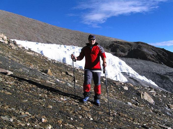 Foto: Andreas Koller / Wander Tour / Dzo Jongo (6217m) / Rast vor der Gletscherzunge / 18.09.2008 22:49:17