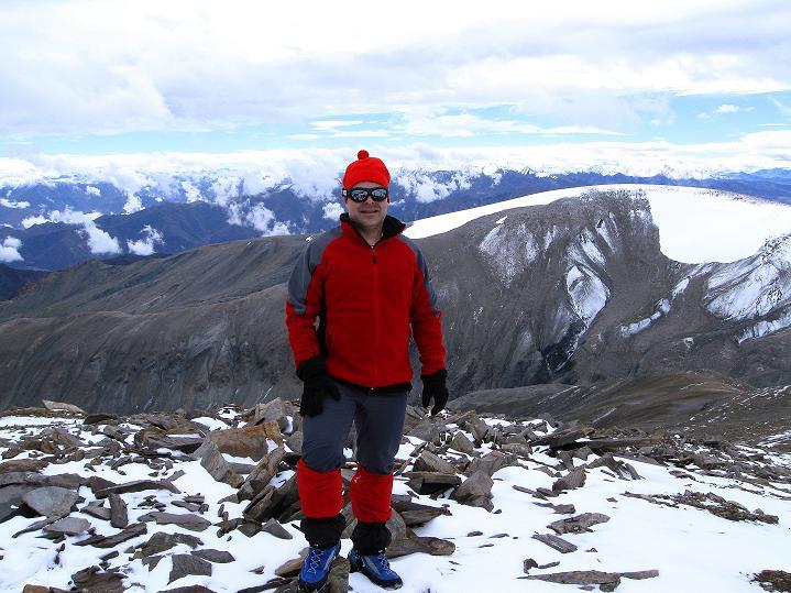 Foto: Andreas Koller / Wander Tour / Dzo Jongo (6217m) / Rast in ca. 5900 m / 18.09.2008 22:41:48