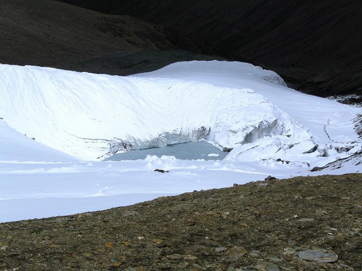 Foto: Andreas Koller / Wander Tour / Dzo Jongo (6217m) / Gletschersee im Abstieg / 18.09.2008 22:34:40
