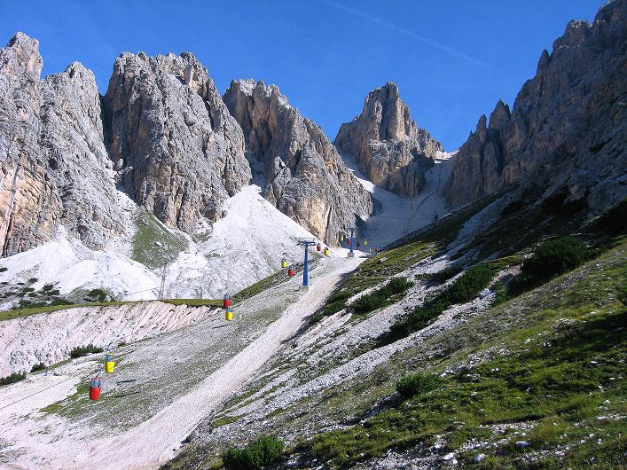 Foto: Andreas Koller / Klettersteig Tour / Ferrata Marino Bianchi - Cristallo di Mezzo (3167 m) / Die Eiergondeln zur Forcella Staunies / 23.09.2008 01:39:19