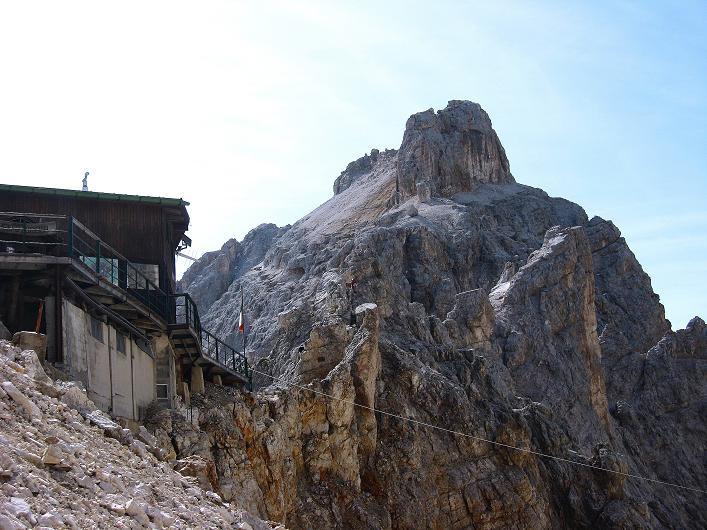 Foto: Andreas Koller / Klettersteig Tour / Ferrata Marino Bianchi - Cristallo di Mezzo (3167 m) / Rif. Guido Lorenzi und Cristallo di Mezzo / 23.09.2008 01:37:57