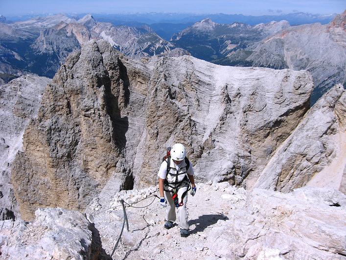 Foto: Andreas Koller / Klettersteig Tour / Ferrata Marino Bianchi - Cristallo di Mezzo (3167 m) / Kurz zum Entspannen leichtes Gelände / 23.09.2008 01:32:44