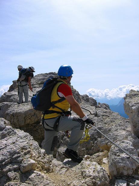 Foto: Andreas Koller / Klettersteig Tour / Ferrata Marino Bianchi - Cristallo di Mezzo (3167 m) / Am Grat / 23.09.2008 01:30:17