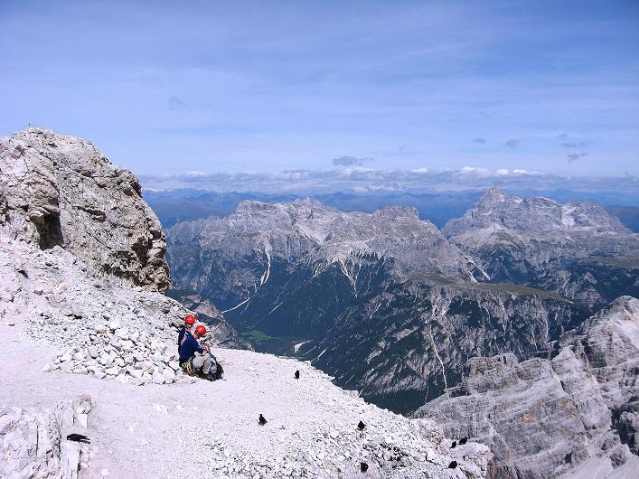 Foto: Andreas Koller / Klettersteig Tour / Ferrata Marino Bianchi - Cristallo di Mezzo (3167 m) / Blick in die Sextener Dolomiten / 23.09.2008 01:27:09