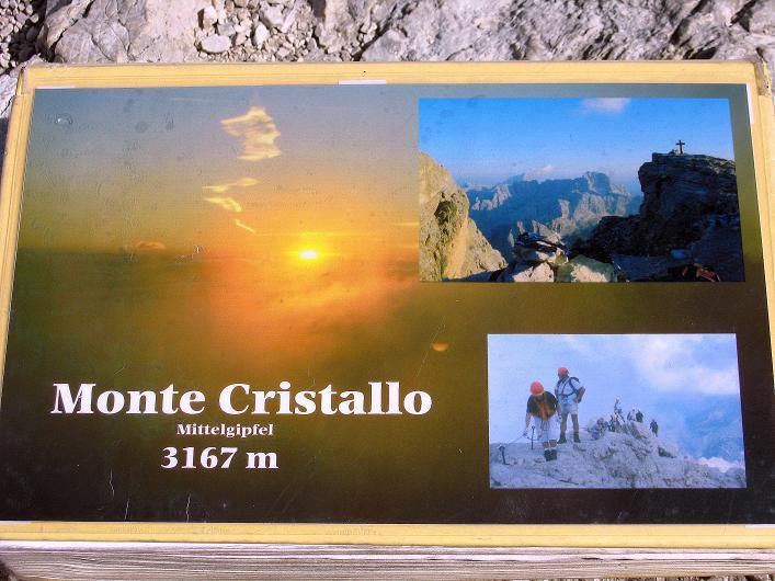Foto: Andreas Koller / Klettersteig Tour / Ferrata Marino Bianchi - Cristallo di Mezzo (3167 m) / Cristallo di Mezzo - Gipfelbuch / 23.09.2008 01:26:35